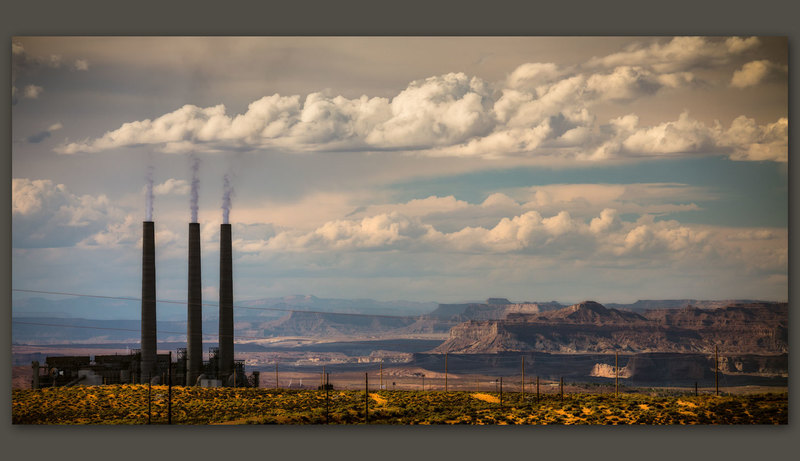 Navajo Generating Station Panorama, Page, Arizona