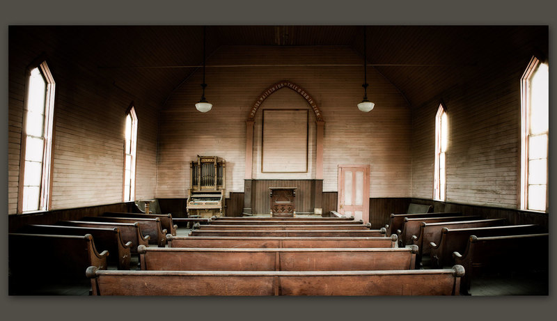 Methodist Church Interior, Bodie, California